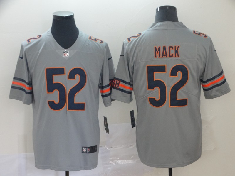 Nike Bears 52 Khalil Mack Silver Inverted Legend Limited Jersey