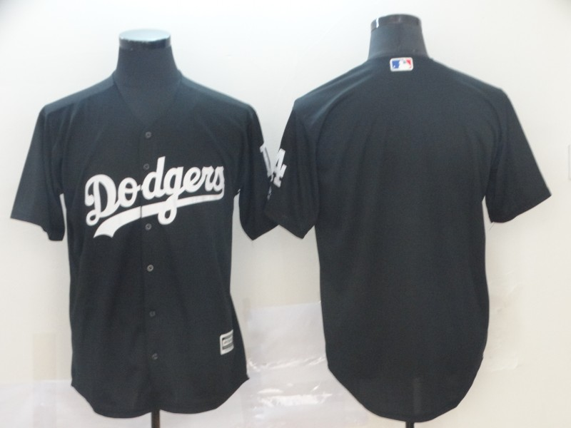 Dodgers Blank Black Turn Back The Clock Cool Base Jersey