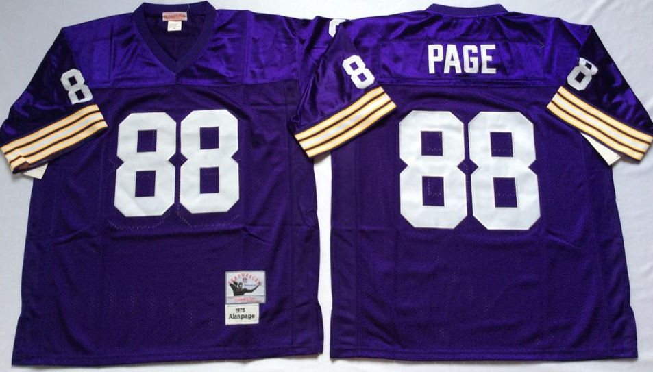 Vikings 88 Alan Page Purple M&N Throwback Jersey