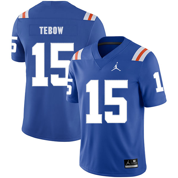 Florida Gators 15 Tim Tebow Blue Throwback College Football Jersey