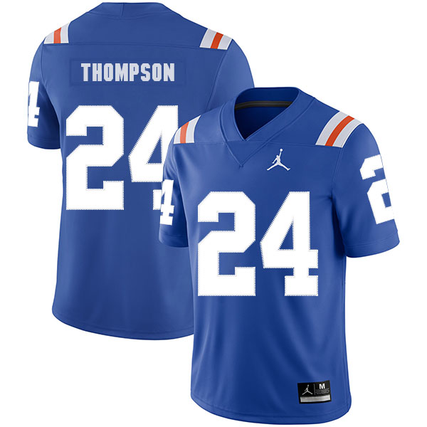 Florida Gators 24 Mark Thompson Blue Throwback College Football Jersey