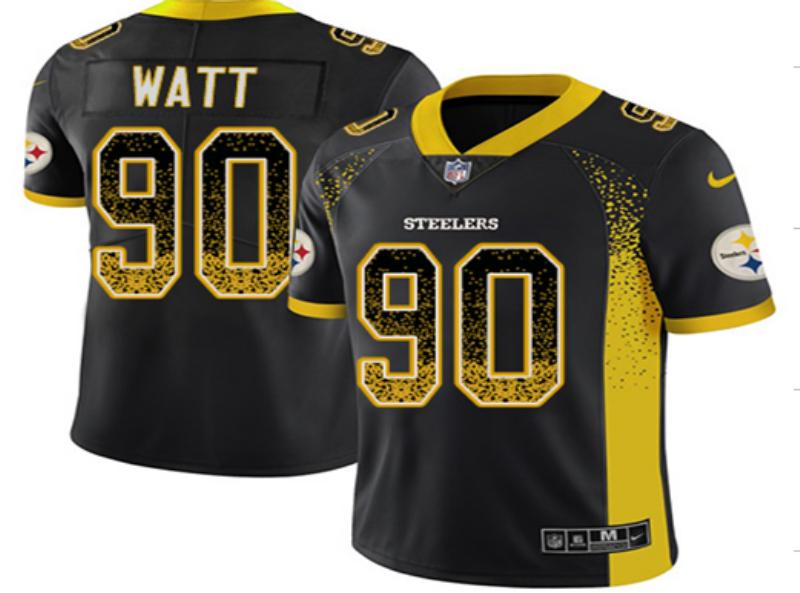 Nike Steelers 90 T.J. Watt Black Drift Fashion Limited Jersey