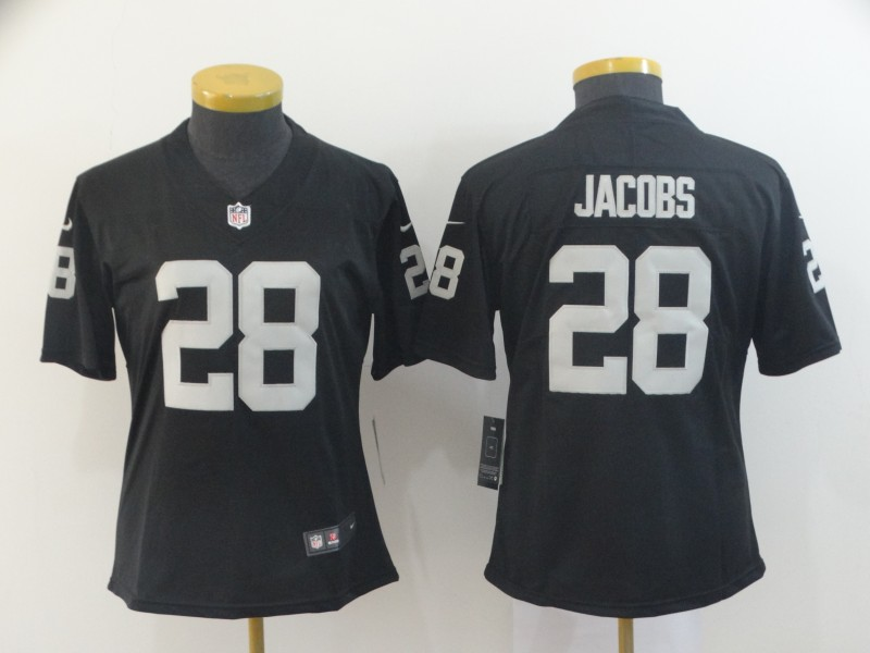 Nike Raiders 28 Josh Jacobs Black Women Vapor Untouchable Limited Jersey