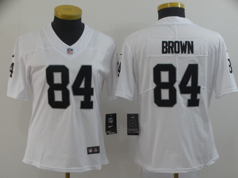 Nike Raiders 84 Antonio Brown White Women Vapor Untouchable Limited Jersey