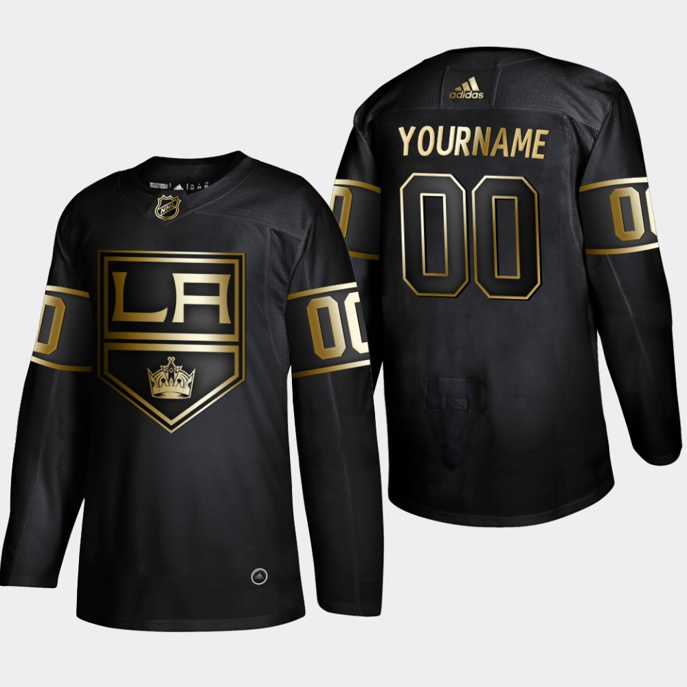 Kings Customized Black Gold Adidas Jersey