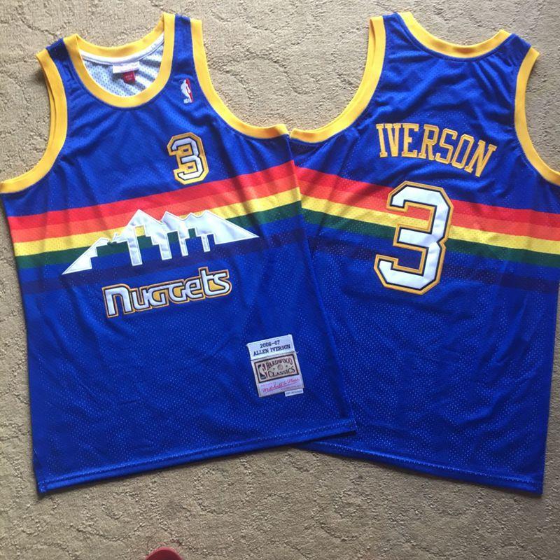 Nuggets 3 Allen Iverson Blue 2006-07 Hardwood Classics Swingman Jersey