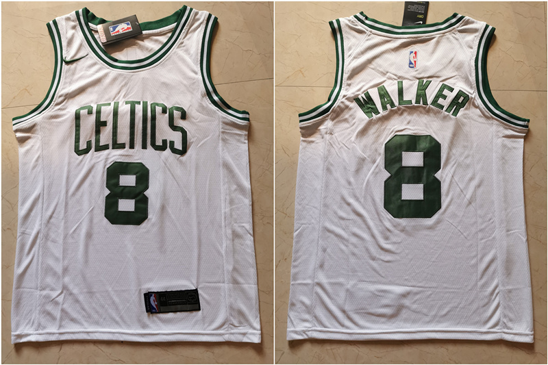 Celtics 8 Kemba Walker White Nike Swingman Jersey