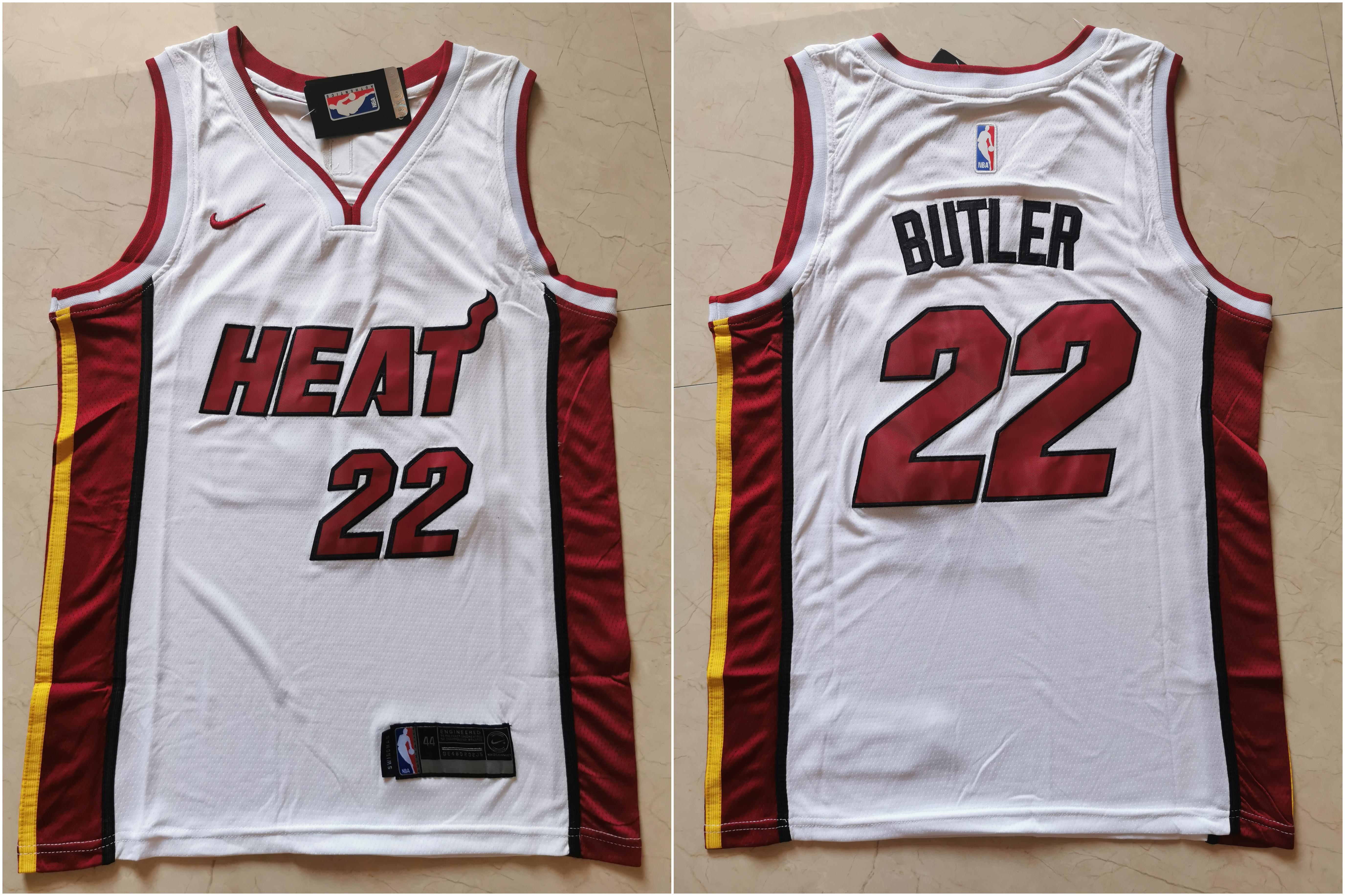 Heat 22 Jimmy Butler White Nike Swingman Jersey