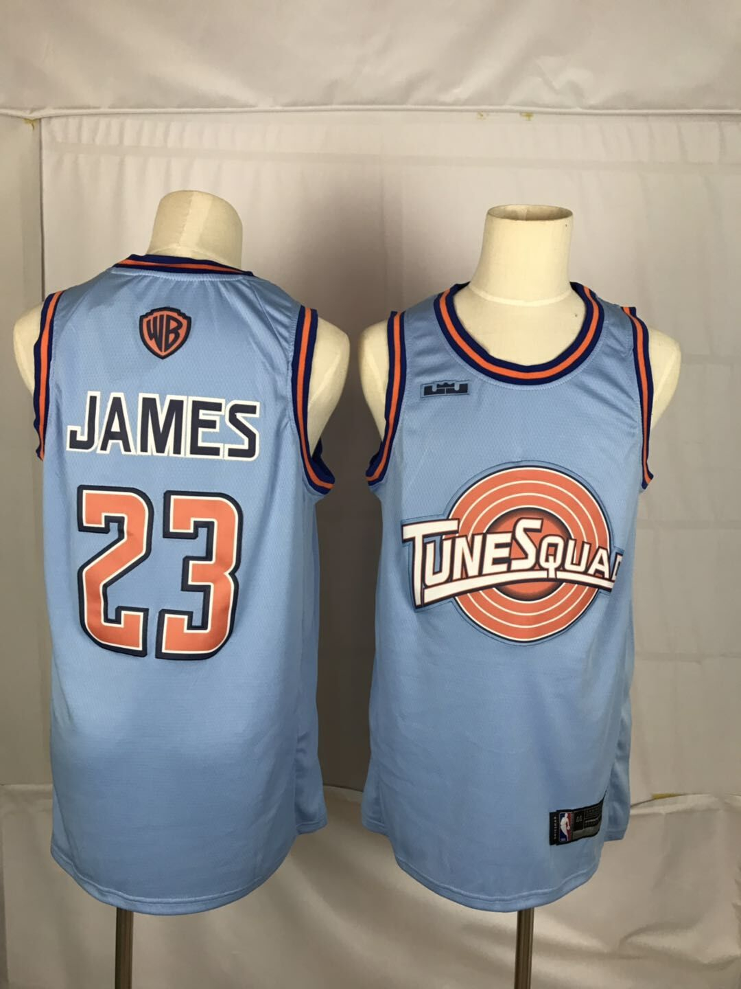 Tune Squad 23 Lebron James Blue Stitched Movie Basketball Jersey