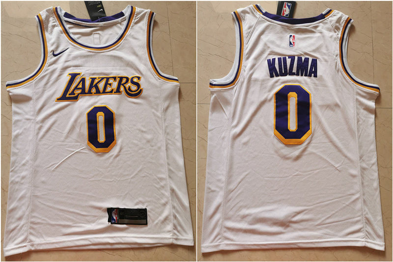Lakers 0 Kyle Kuzma White Nike Swingman Jersey