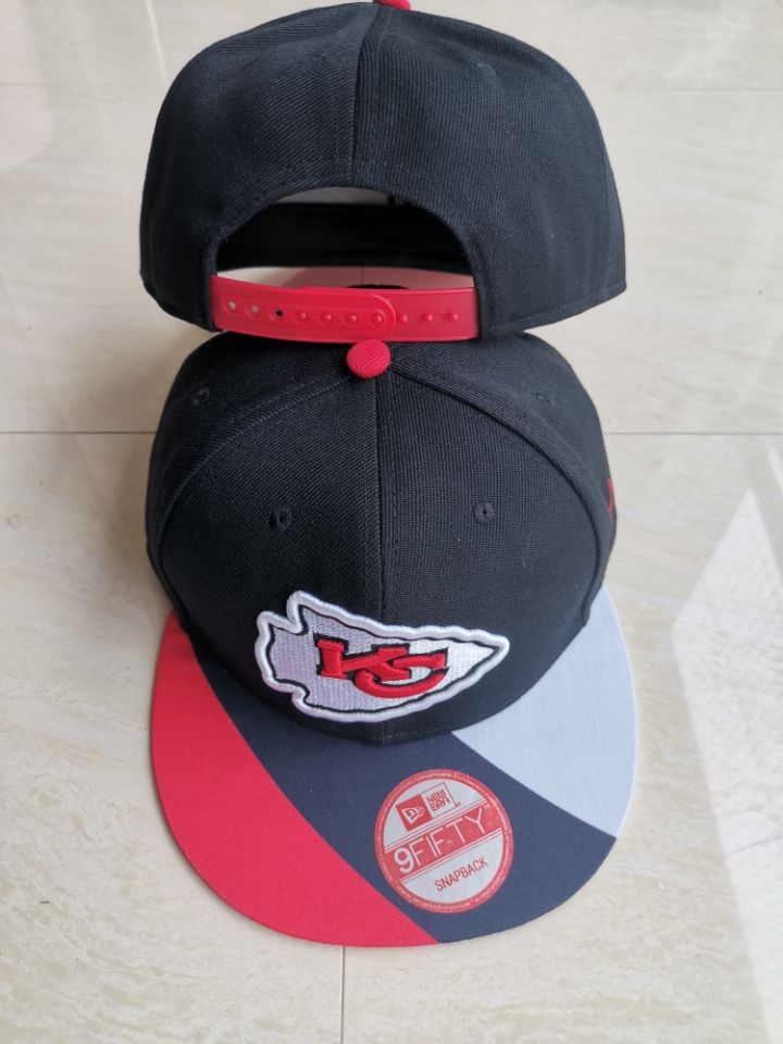Chiefs Team Logo Black Adjustable Hat LT