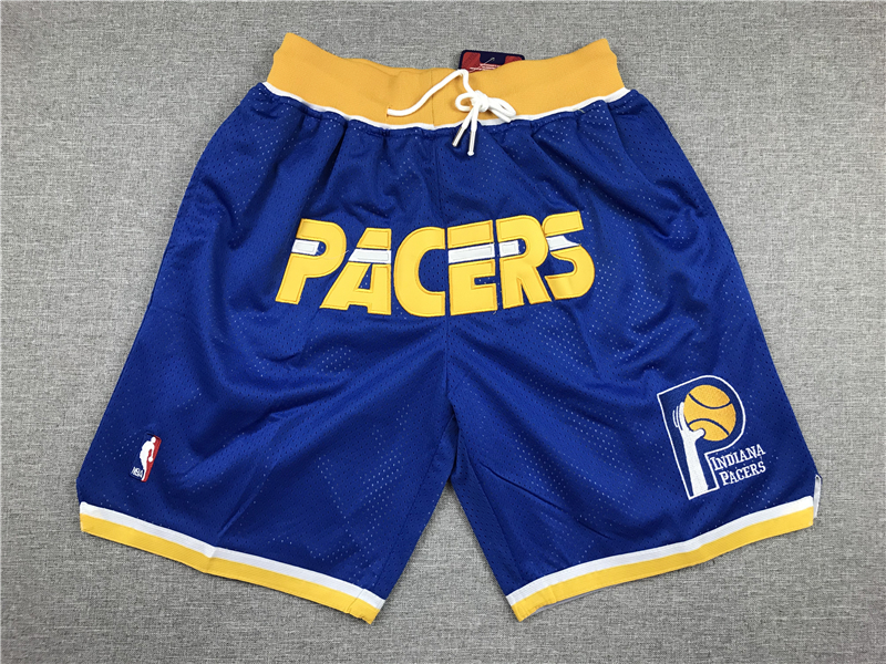 Pacers Blue Pockets Swingman Shorts