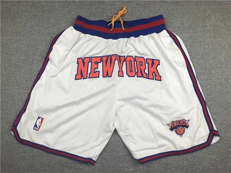 Knicks White Just Don Mesh Shorts