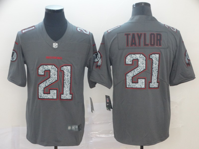 Nike Redskins 21 Sean Taylor Gray Camo Vapor Untouchable Limited Jersey