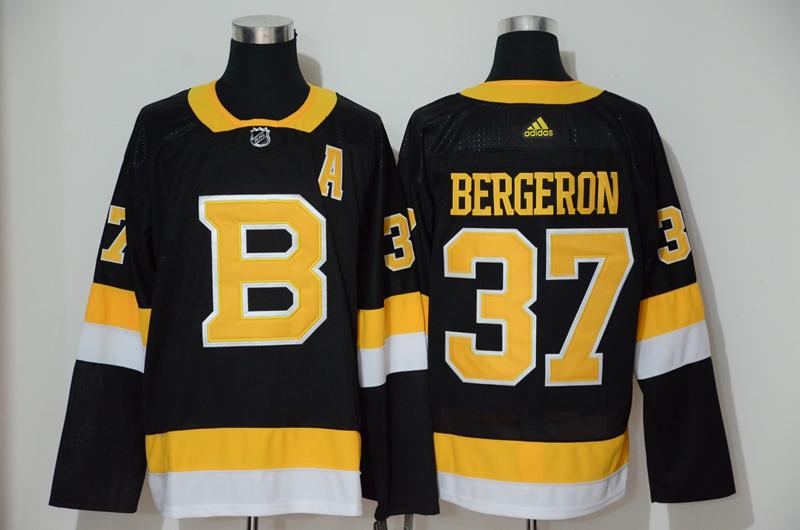 Bruins 37 Patrice Bergeron Black Adidas Jersey