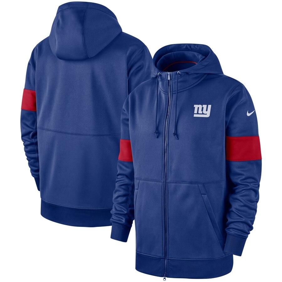 New York Giants Nike Sideline Performance Full Zip Hoodie Royal
