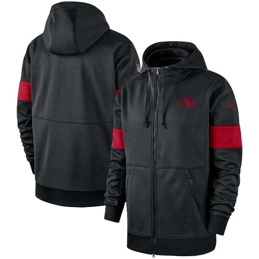 San Francisco 49ers Nike Sideline Performance Full Zip Hoodie Black