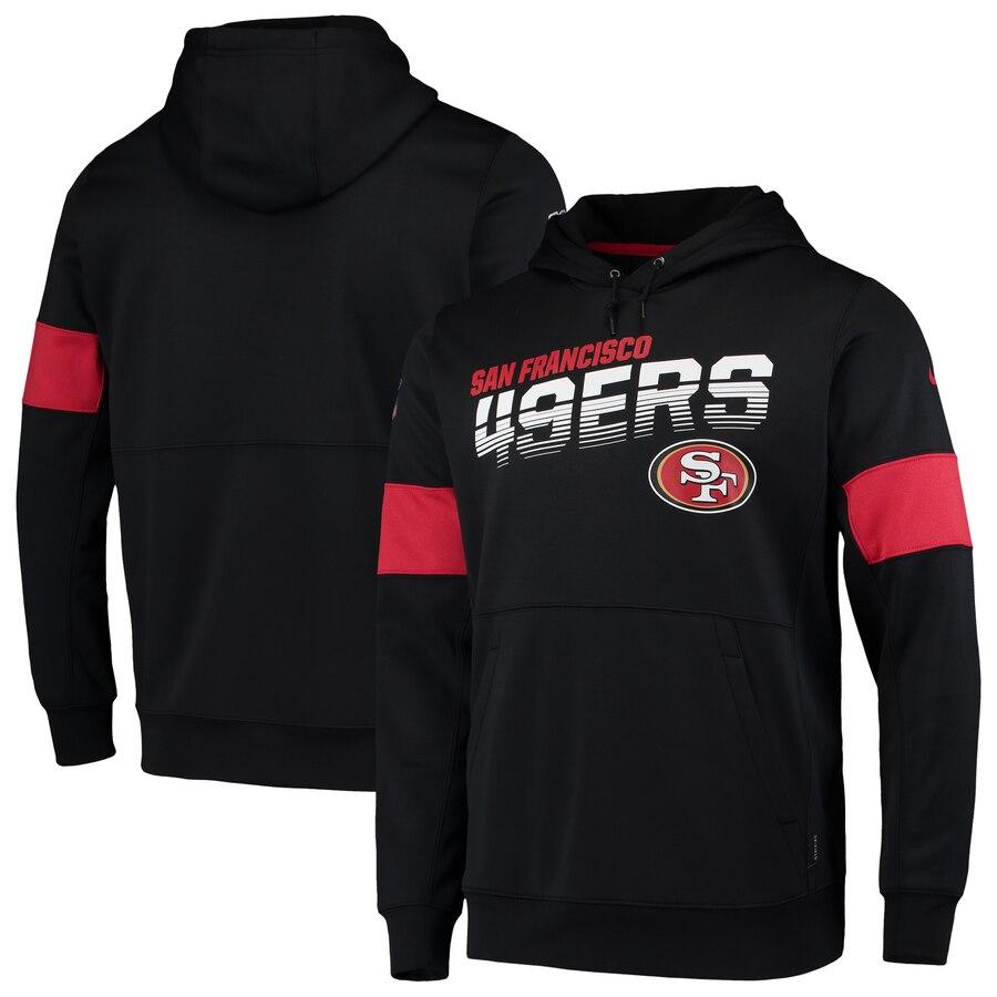 San Francisco 49ers Nike Sideline Team Logo Performance Pullover Hoodie Black