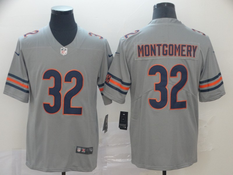 Nike Bears 32 David Montgomery Gary Inverted Legend Limited Jersey
