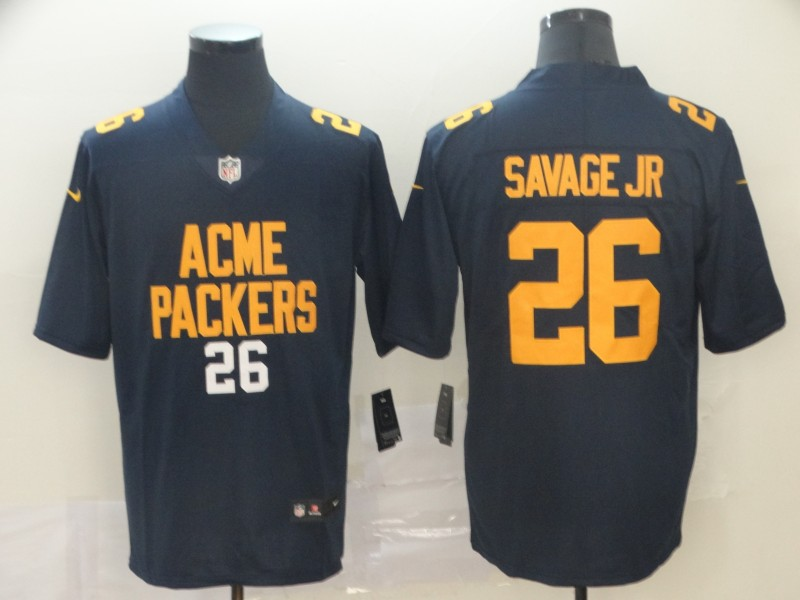 Nike Packers 26 Darnell Savage Jr. Navy City Edition Vapor Untouchable Limited Jersey