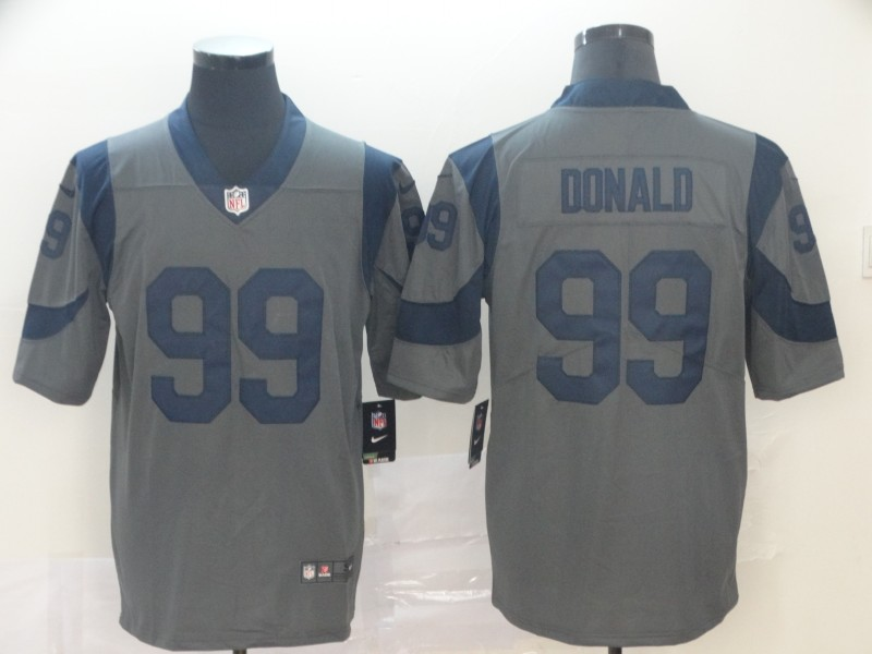 Nike Rams 99 Aaron Donald Gray Inverted Legend Limited Jersey