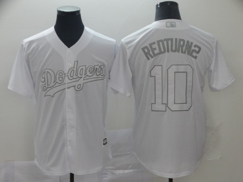 "Dodgers 10 Justin Turner ""RedTurn2"" White 2019 Players' Weekend Player Jersey"
