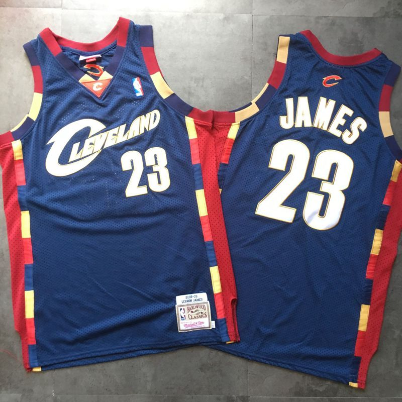 Cavaliers 23 Lebron James Navy 2008-09 Hardwood Classics Jersey