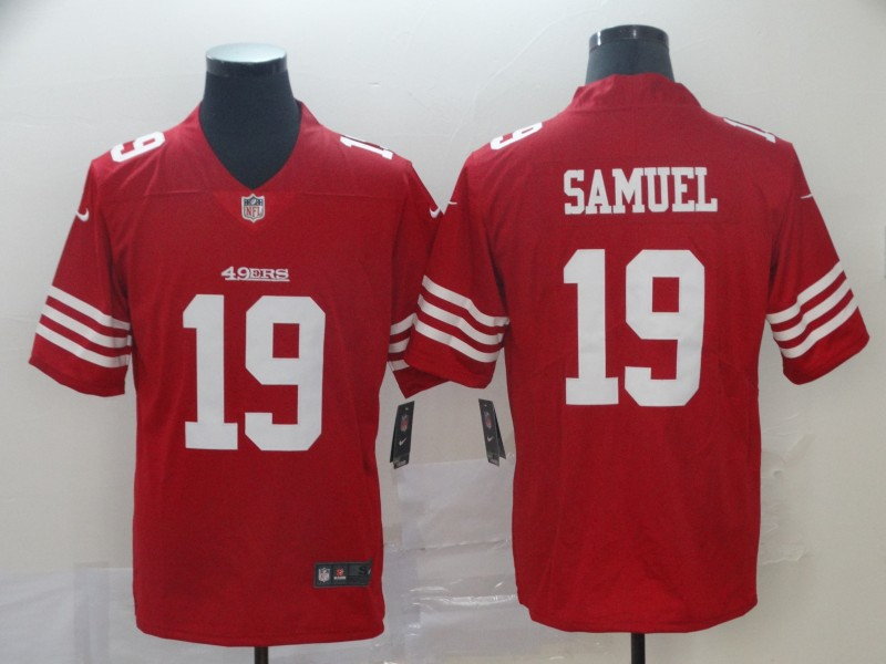 Nike 49ers 19 Deebo Samuel Red Color Rush Vapor Untouchable Limited Jesey
