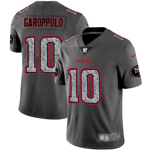 Nike 49ers 10 Jimmy Garoppolo Gray Camo Vapor Untouchable Limited Jersey