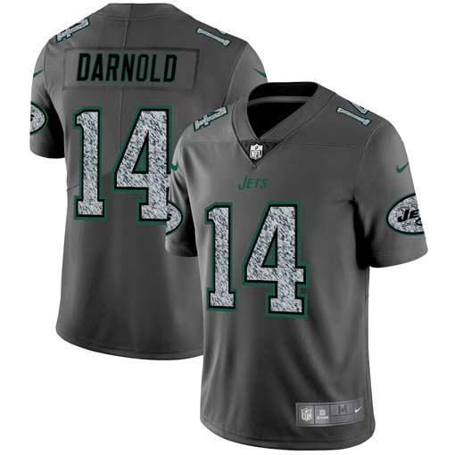 Nike Jets 14 Sam Darnold Gray Camo Vapor Untouchable Limited Jersey