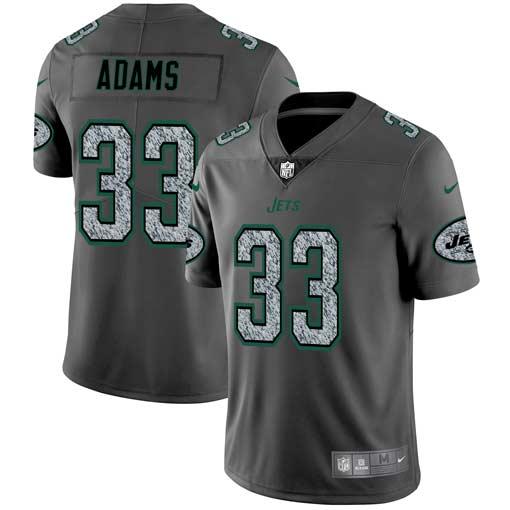 Nike Jets 33 Jamal Adams Gray Camo Vapor Untouchable Limited Jersey