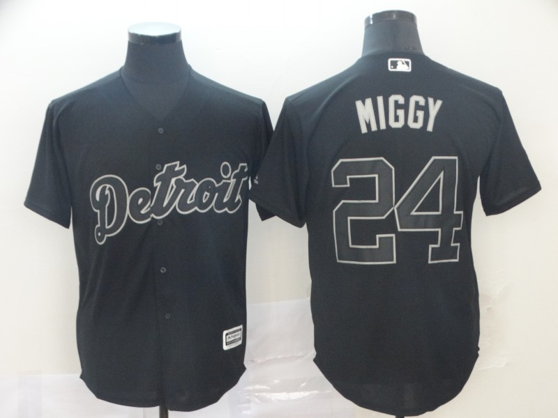 "Tigers 24 Miguel Cabrera ""Miggy"" Black 2019 Players' Weekend Player Jersey"