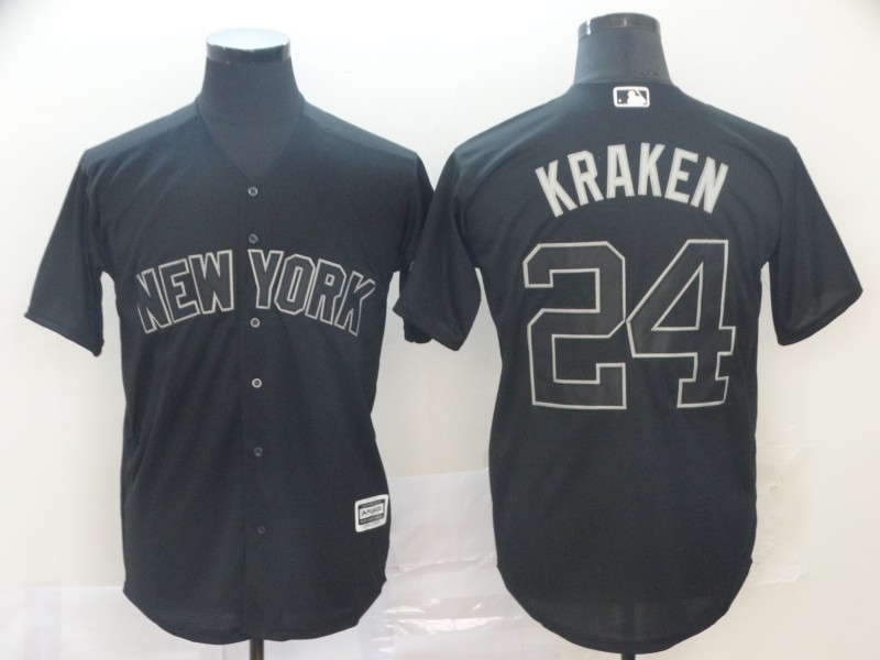 "Yankees 24 Gary Sanchez ""Kraken"" Black 2019 Players' Weekend Player Jersey"
