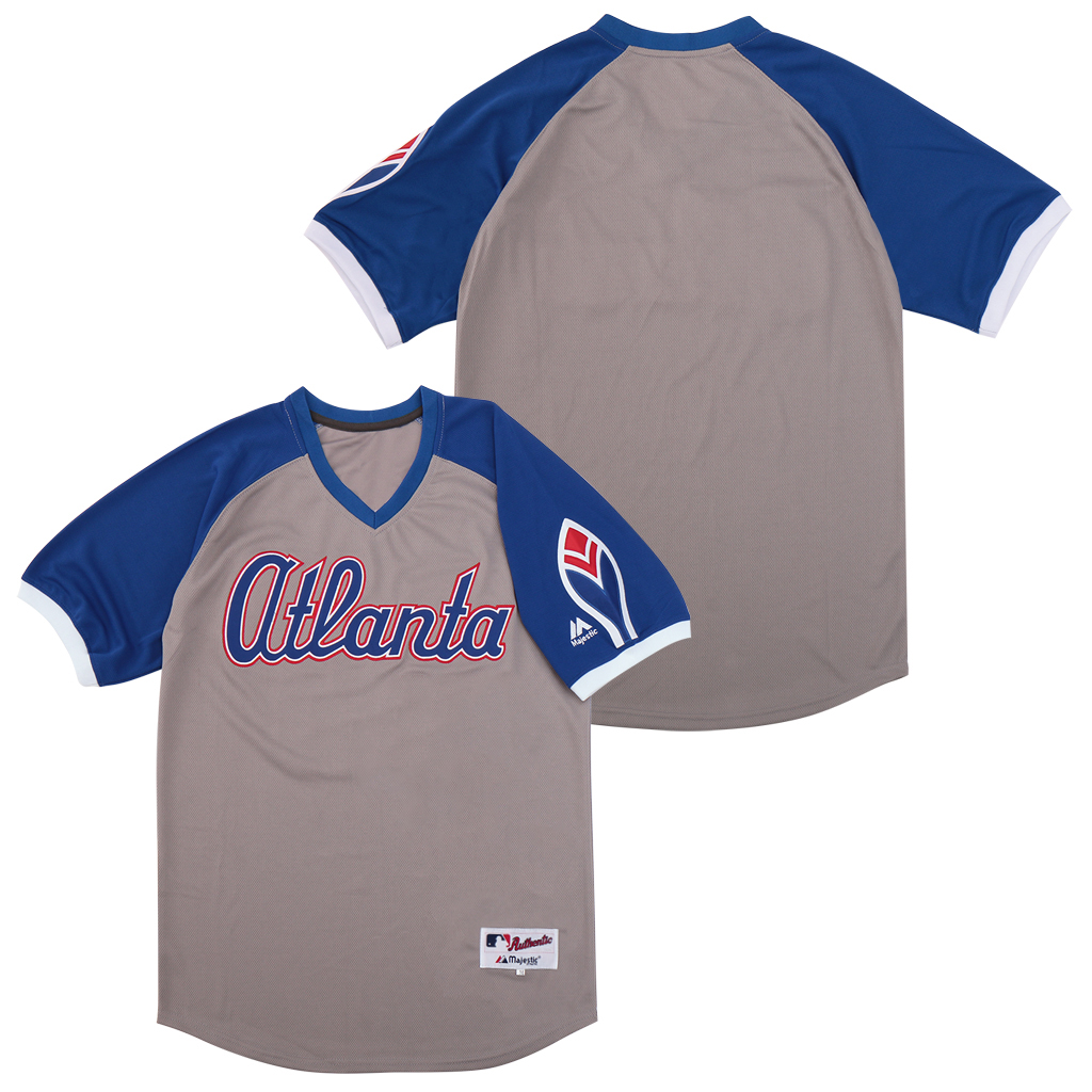 Braves Blank Gray Turn Back The Clock Jersey
