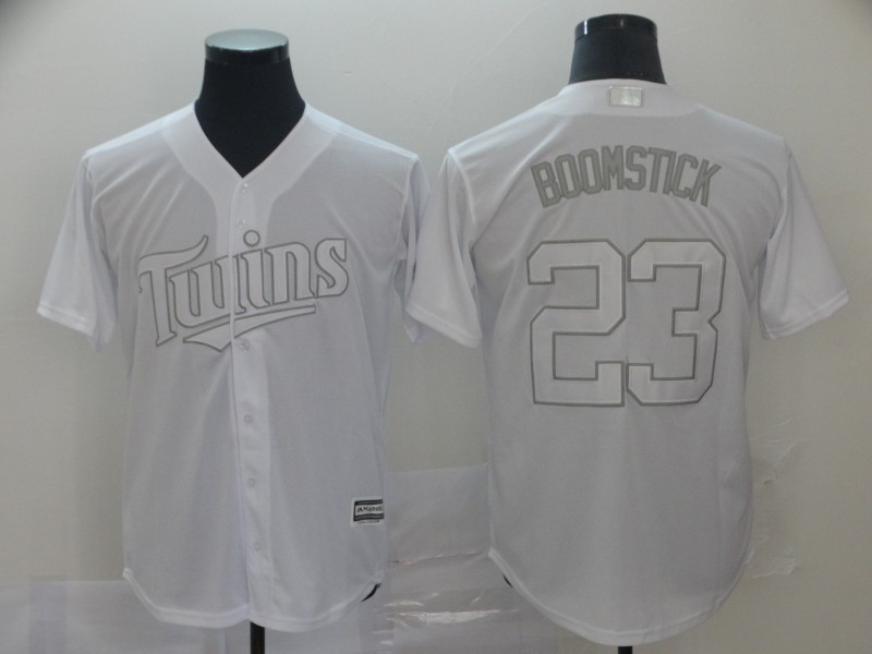 "Twins 23 Nelson Cruz ""Boomstick"" White 2019 Players' Weekend Player Jersey"
