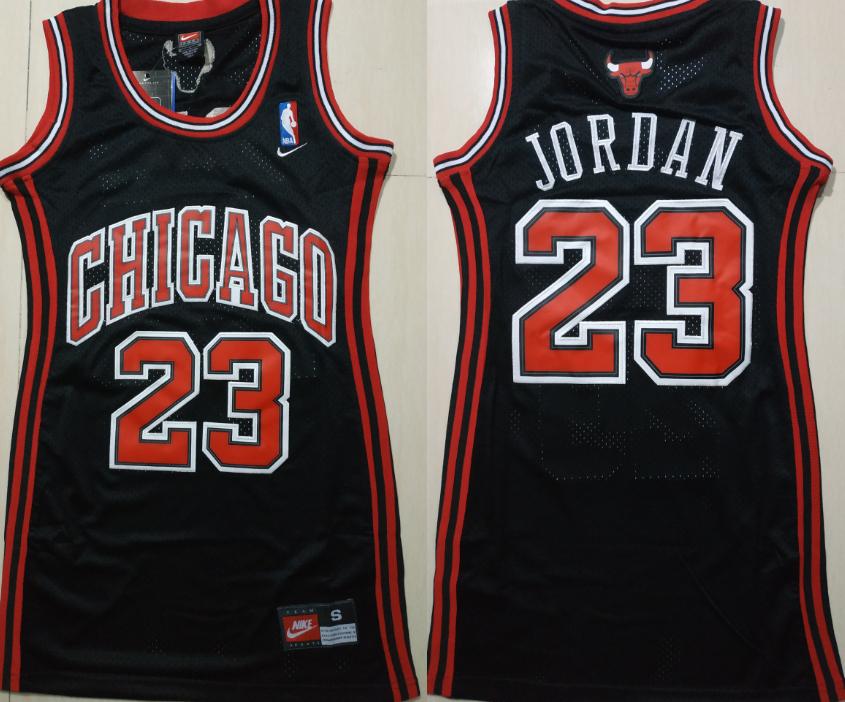 Bulls 23 Michael Jordan Black Women Nike Swingman Jersey