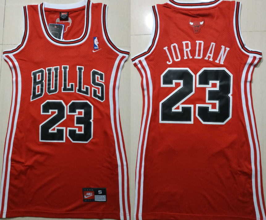 Bulls 23 Michael Jordan Red Women Nike Swingman Jersey