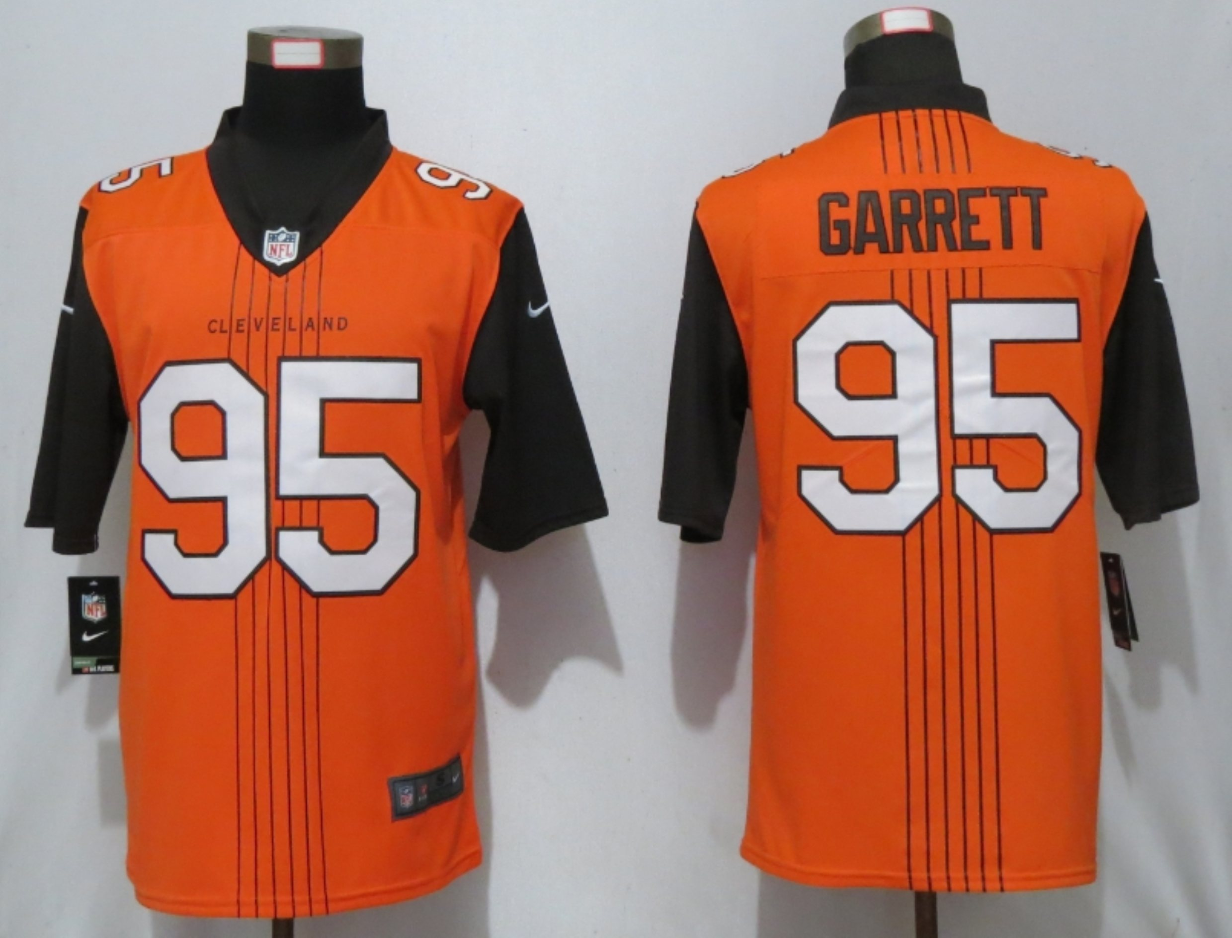 Nike Browns 95 Myles Garrett Orange City Edition Vapor Untouchable Limited Jersey