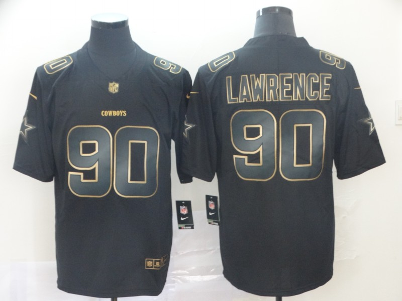 Nike Cowboys 90 DeMarcus Lawrence Black Gold Vapor Untouchable Limited Jersey
