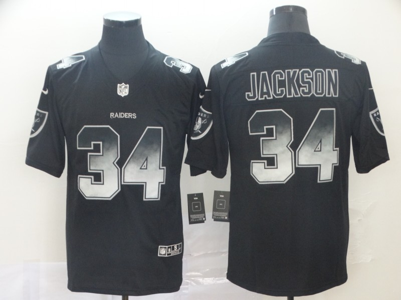 Nike Raiders 34 Bo Jackson Black Arch Smoke Vapor Untouchable Limited Jersey