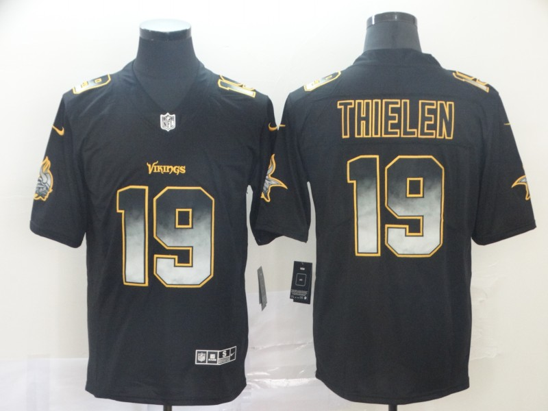 Nike Vikings 19 Adam Thielen Black Arch Smoke Vapor Untouchable Limited Jersey