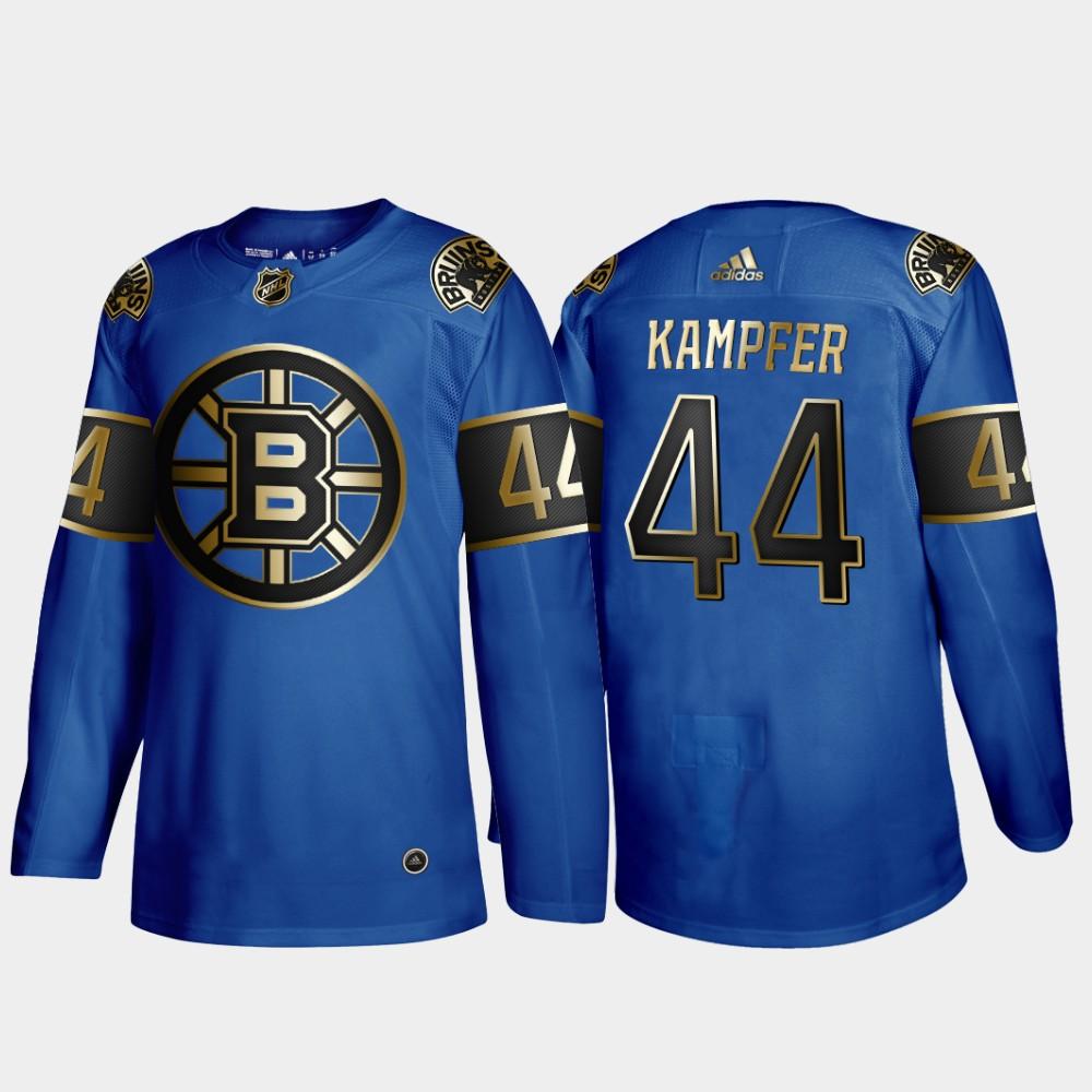 Bruins 44 Steven Kampfer Blue 50th anniversary Adidas Jersey
