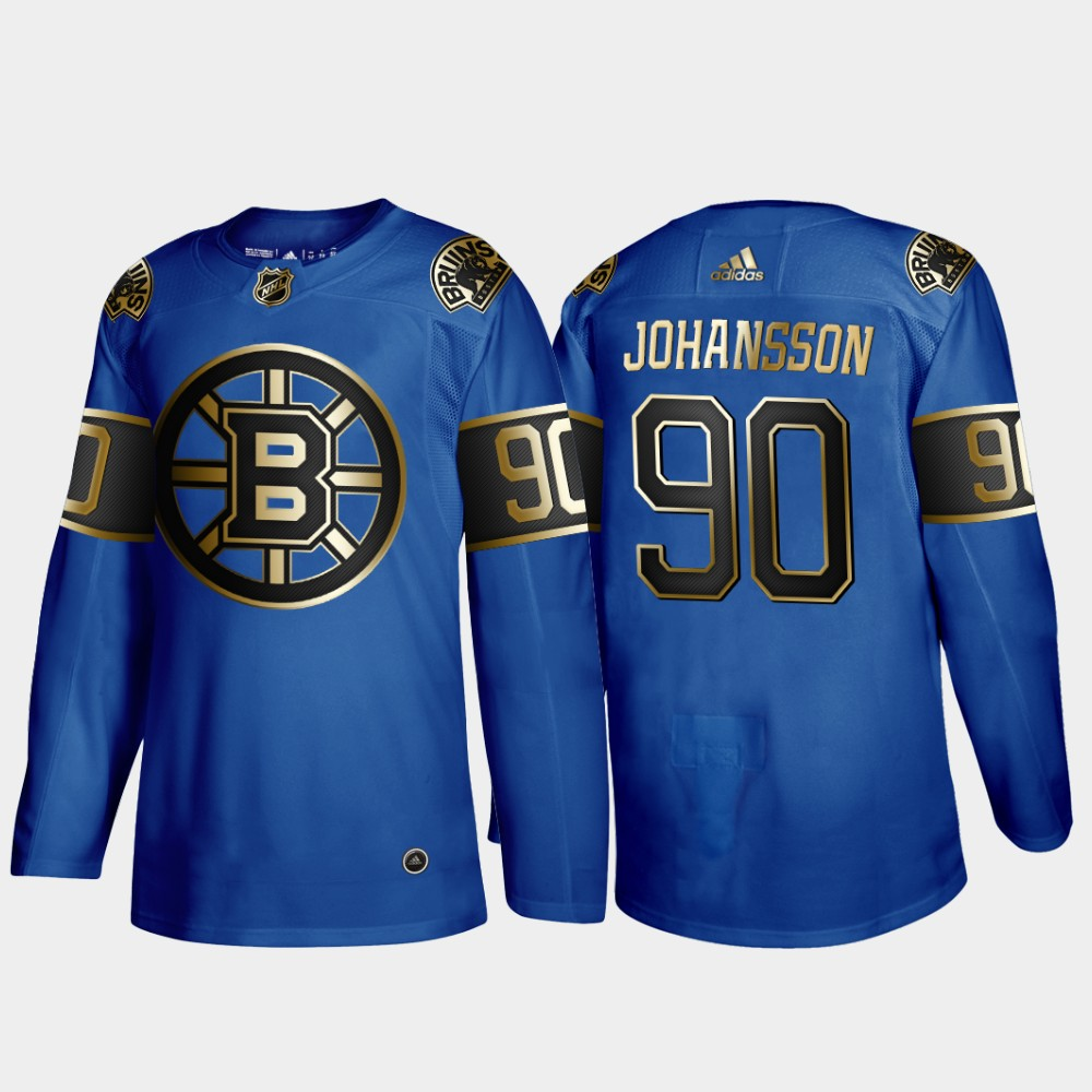 Bruins 90 Marcus Johansson Blue 50th anniversary Adidas Jersey