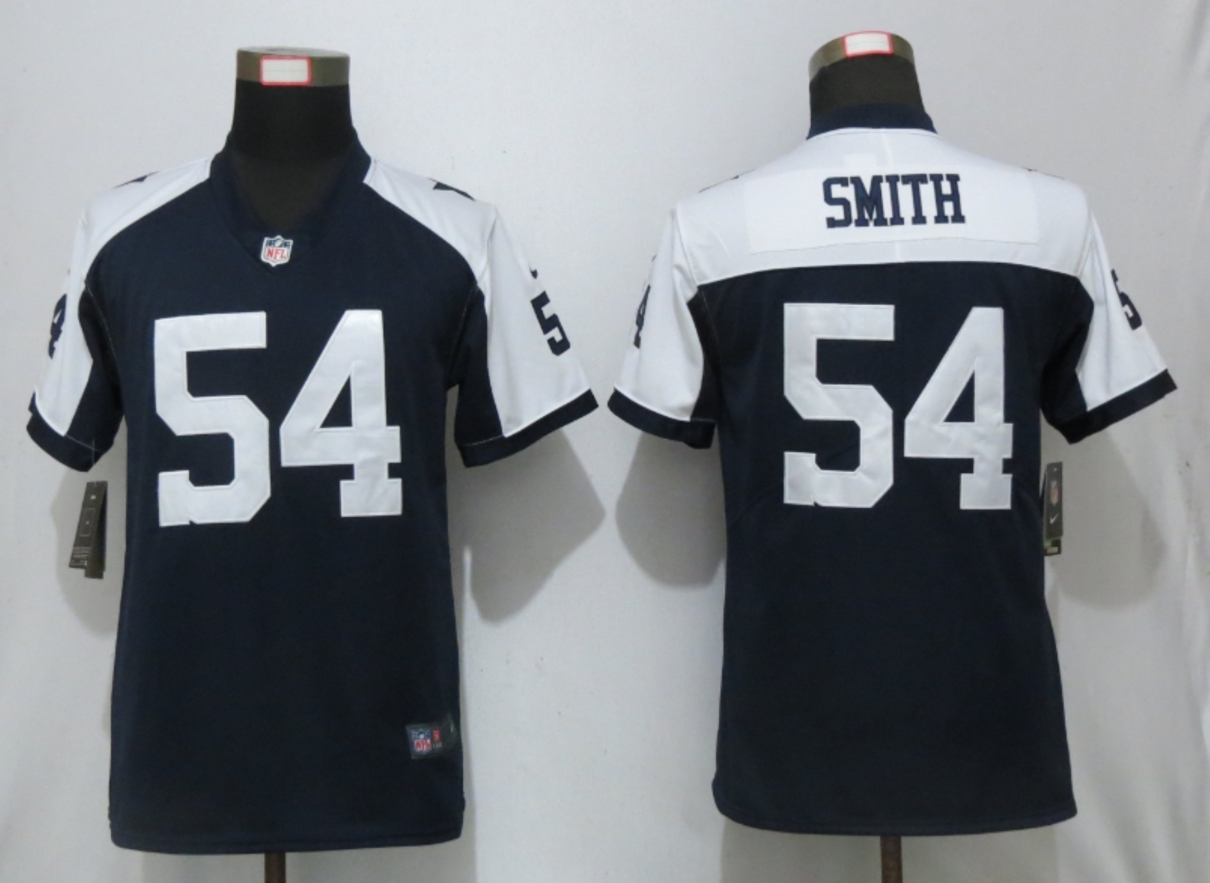 Nike Cowboys 54 Jaylon Smith Navy Throwback Women Vapor Untouchable Limited Jersey
