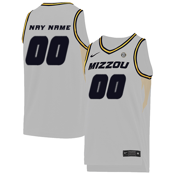 Missouri Tigers Customized White College Basketball Jersey