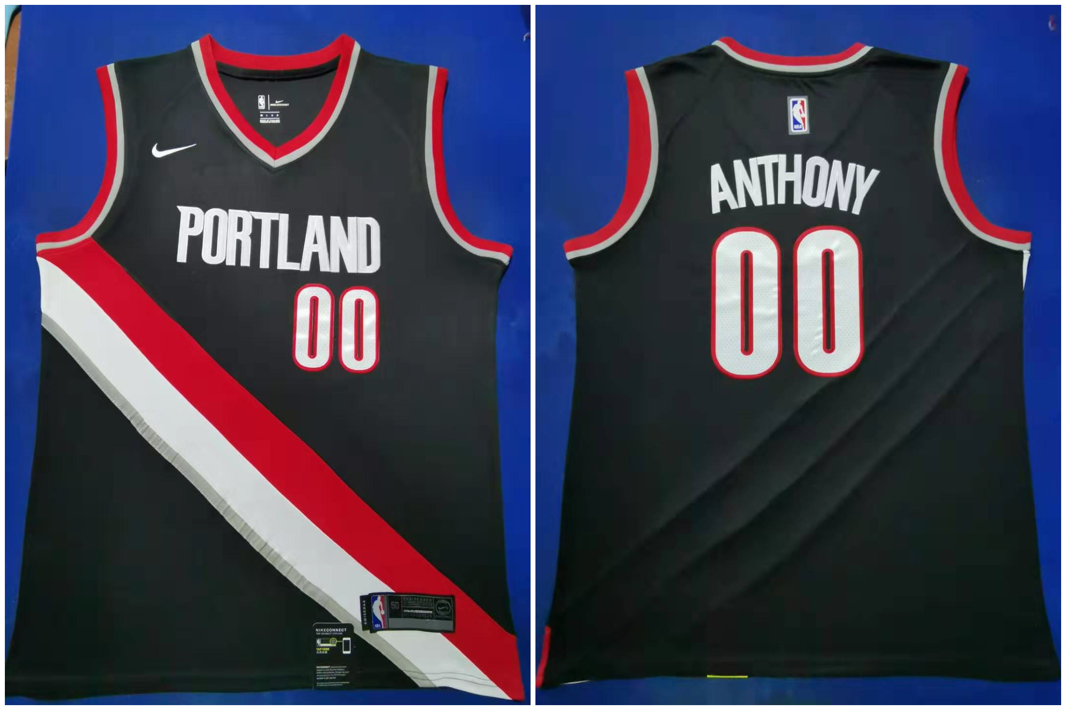 Blazers 00 Carmelo Anthony Black 2019-20 Nike Swingman Jersey