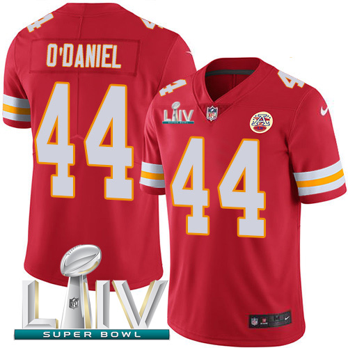 Nike Chiefs 44 Dorian O'Daniel Red 2020 Super Bowl LIV Vapor Untouchable Limited Jersey