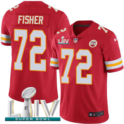Nike Chiefs 72 Eric Fisher Red 2020 Super Bowl LIV Vapor Untouchable Limited Jersey