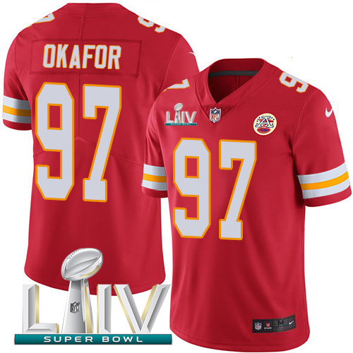 Nike Chiefs 97 Alex Okafor Red 2020 Super Bowl LIV Vapor Untouchable Limited Jersey