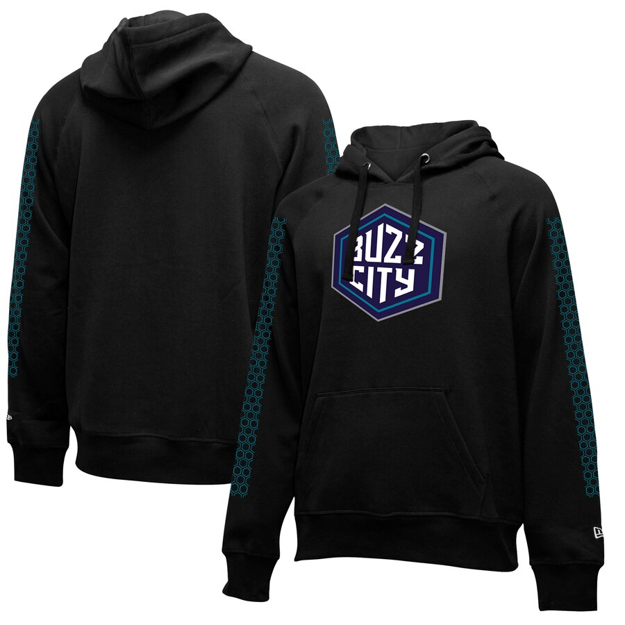 Charlotte Hornets New Era 2019-20 City Edition Pullover Hoodie Black